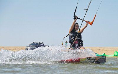 Campeonato de kitesurf em Grussaí