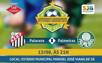 Palacete x Palmeiras nesta terça-feira
