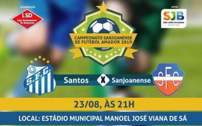 Santos e Sanjoanense nesta sexta-feira, 23, no Estádio Municipal Manoel José Viana de Sá