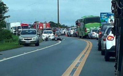 Homens feridos em grave acidente na BR 356, em SJB