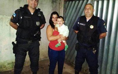 Bebê de 10 meses é salvo por PM e guarda civil em SFI